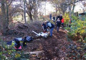 Swanley Wildlife & Nature members working in the Environment Area, Swanley Park