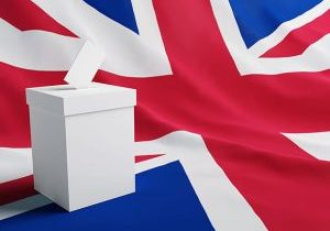 Voting - Ballot Box and the union flag